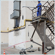 Испытания пожарных лестниц и ограждений кровли. rosoz.ru